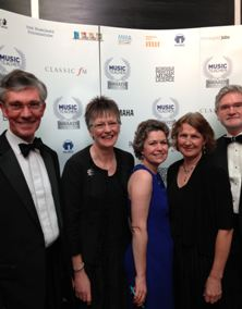 Members of the Scratch Youth Messiah management team at the Music Teacher Awards ceremony in London on 12 March. Left to right: Trevor Ford, Annie Hastings, Jo Forrest, Marianne Barton and Tony Hastings.