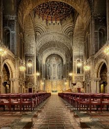 The magnificent interior of St Bart's Church in Manhattan