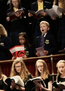 The Scratch Youth Messiah 2015: some young singers seemed to know it by heart!