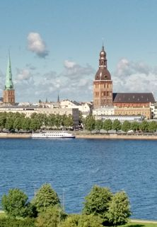 Riga Dom across river Daugava 222